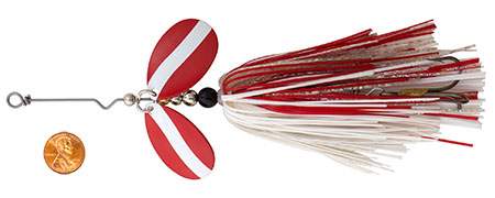 Viper 2, Mag 5 Pikie Bucktail in Red White Color
