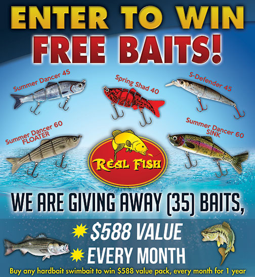 Real Fish Tackle Monthly Contest
