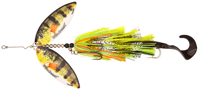 Bait rigs company willobeast action tail preyfish for Yellow perch fishing rigs